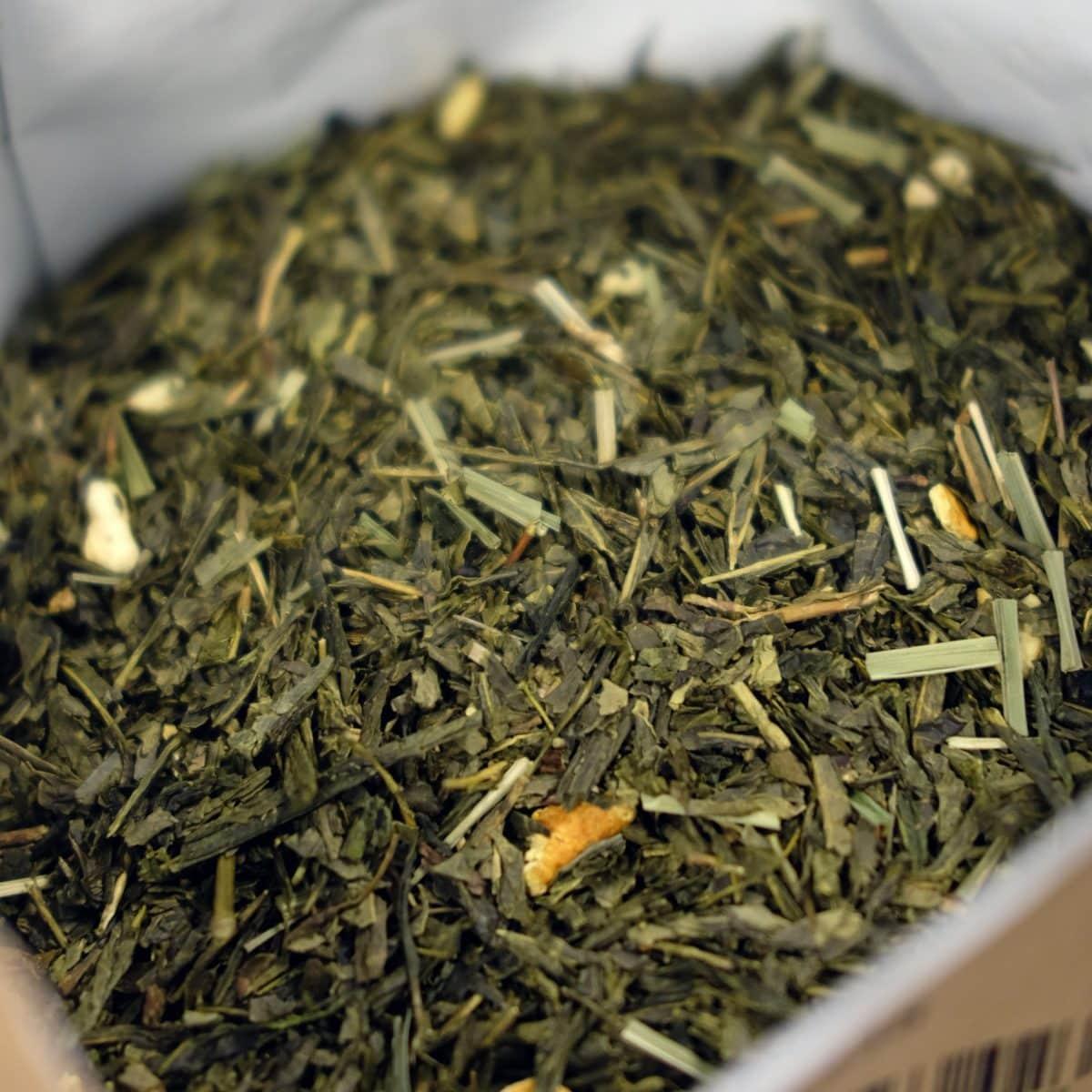 Un thé vert sencha au parfum citronné