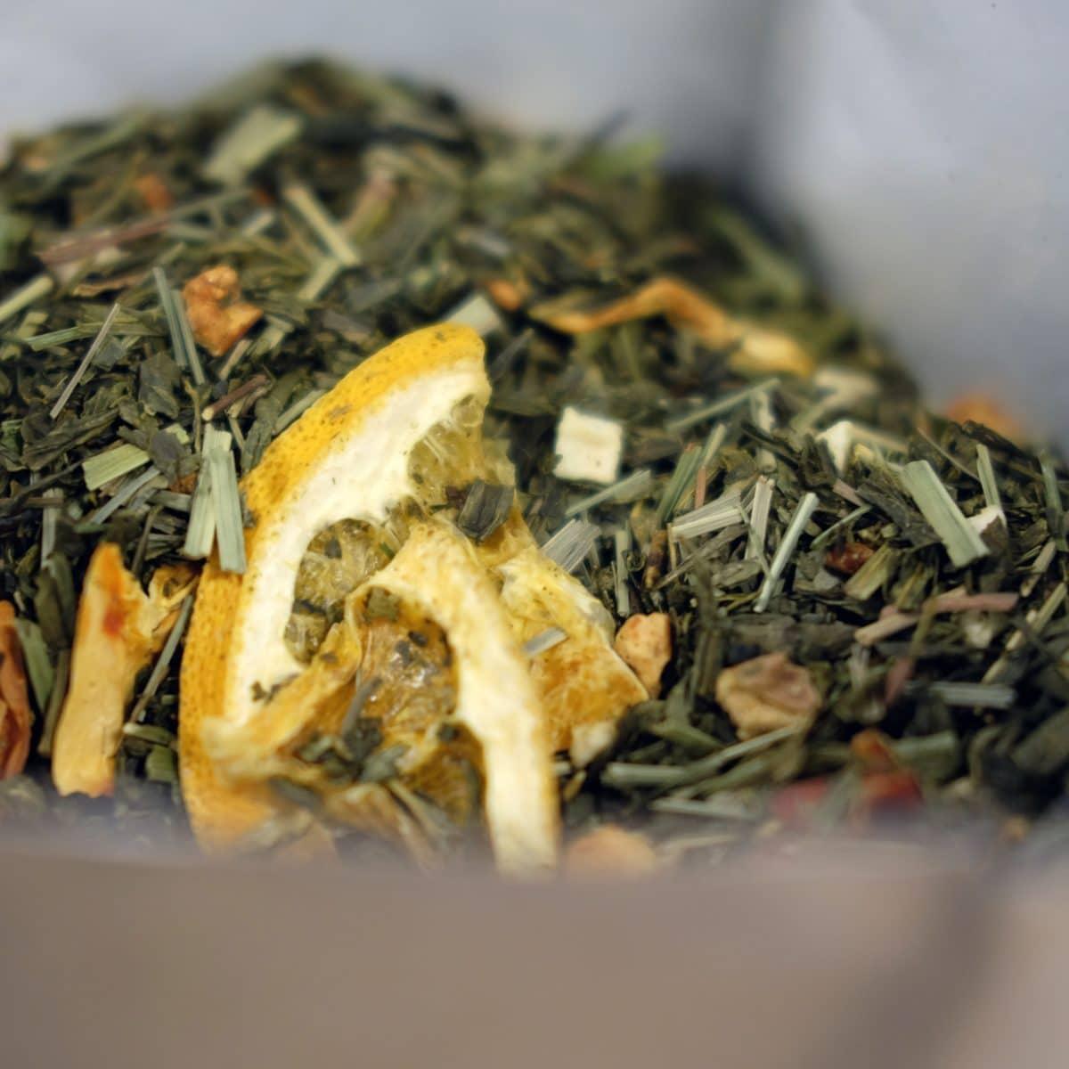 mélange de thé vert estival aux notes d'orange