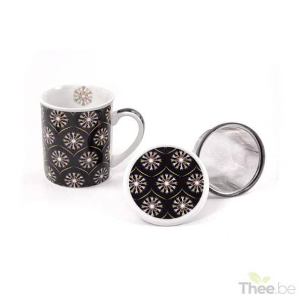 Theetas met filter en deksel (250ml)