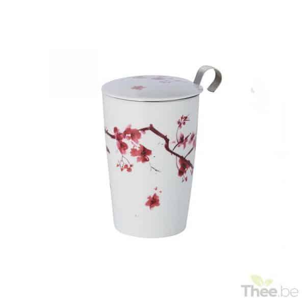 Theetas met filter en deksel, Cherry Blossom (350ml)